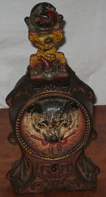 Mouse Mechanical Bank - Antique Original Cast Iron Cat & Mouse Mechanical Bank w/ original paint