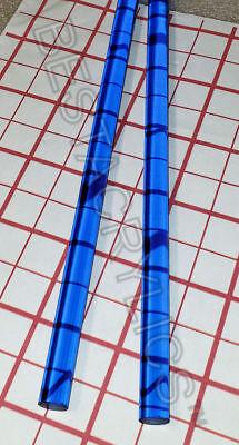 2 Clear Blue Translucent 12 Diameter Acrylic Plexiglass Color Rod 12 Long .50
