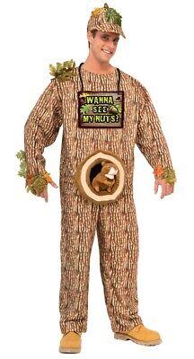 Tree Man Costume (Funny Wanna See My Nuts Adult Halloween Costume Squirrel Tree Hunter Redneck)