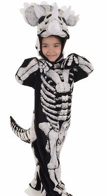 Triceratops Fossil Costume Childs Boys Dinosaur Skeleton Bones - Large - Dinosaur Skeleton Costume