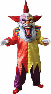 Morris Costumes Men's Evil Horror Clown Mask Hands Red Yellow One Size. TA110