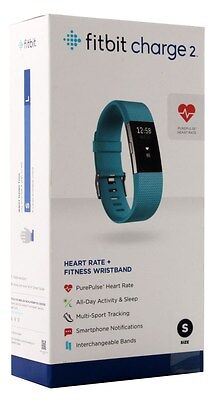 Fitbit Charge 2 Heart Rate + Fitness Wristband, Teal, Small