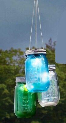 Neuheit Kronleuchter (3er Set Solar Beleuchtete Einmachglas Kronleuchter Hängende Veranda Garten)