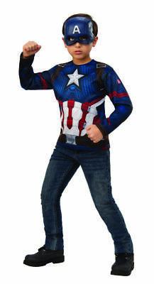 Captain America Halloween Costume (Rubies Marvel Avengers Endgame Captain America Top Mask Halloween Costume)