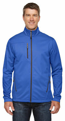 North End Men's Polyester Casual Performance Pocket Printed Fleece Jacket. 88213 Printed Performance Fleece