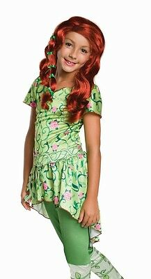 Poison Ivy Costume Girls Childs Kids Villain DC Comics - S 4-6 M 8-10 L 12-14 - Villain Costumes For Girls