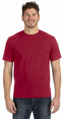 Anvil Men's 100%Cotton Short Sleeve Heavyweight Ringspun Pocket T-Shirt. 783A