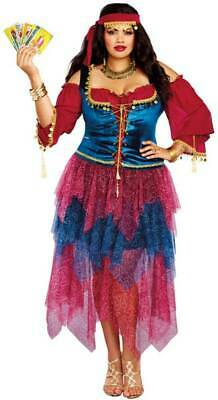Dreamgirl Gypsy Fortune Teller Peasant Dress Plus Size Women's Costume 1X-3X - Plus Size Fortune Teller Gypsy Costume
