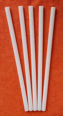 5 White 12 Diameter 12 Inch Long Acrylic Plexiglass Lucite Color Rod Clear