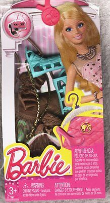 Barbie Accessories  2 Pairs Shoes, Purse, Headband NRFP