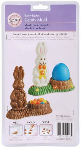 Wilton Bunny Basket  4 Cavity Contains 2 Detailed Reusable