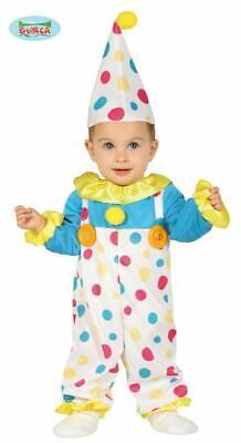 Costume pagliaccio clown neonato 6 - 12 mesi