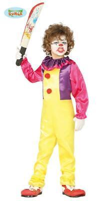 Costume pagliaccio clown malefico horror halloween bambino tg. 10 - 12 anni