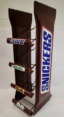 Large Vintage Snickers 4 Tier Candy Display Retail Rack 26