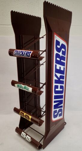 Large Vintage Snickers 4 Tier Candy Display Retail Rack 26""