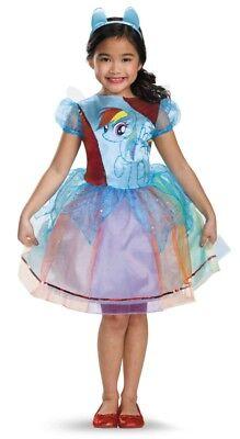 Deluxe Rainbow Dash Child Girls Costume NEW My Little Pony
