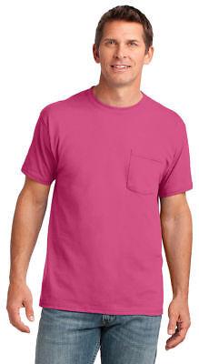 Port & Company Men's Short Sleeve 100% Cotton Pocket Basic Tee. PC54P