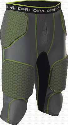 Alleson Athletic Core Hexagon Integrated 7 Pad Adult Mens Football Girdle 7SIPG