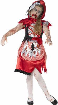 Zombie Rotkäppchen Kinderkostüm NEU - Mädchen Karneval Fasching Verkleidung Kost