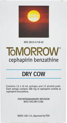 Tomorrow Dry Cow Mastitis Tubes Dairy Cattle 12ct Box Cefa Dri