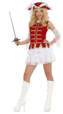 Sexy Musketier Kostüm für Damen rot-weiss-gold NEU - Damen Karneval Fasching (Musketiere Kostüm Für Damen)