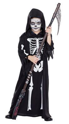 Rub - Kinder Kostüm Skelett Totengräber Henker Halloween (Toten Kind Halloween-kostüm)