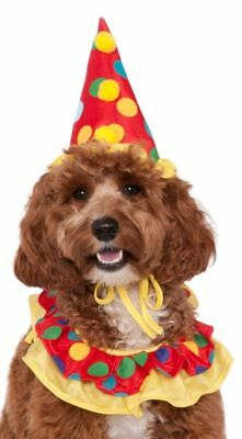 Pet Dog Cat Clown Hat Circus Neck Ruffle Carnival Fancy Dress Costume Outfit](Circus Dog Costume)