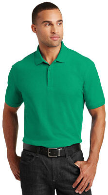 - Port Authority Men's Short Sleeve Flat Knit Collar Core Pique Polo Shirt. K100