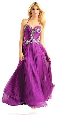 NWT$605 Johnathan Kayne JK527 prom pageant party Long Halter purple dress 4