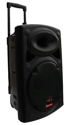 MOBILE PA SOUND ANLAGE Akku-MP3-USB-SD Funkmikrofone Rollkoffer Soundsystem NEU