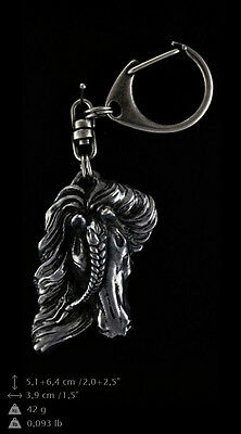 Fresian Horse silver covered keyring, high quality keychain Art Dog