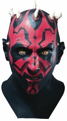 Rubies Star Wars Darth Maul Latex Deluxe Maske Halloween Kostüm Zubehör - Latex Star Wars Kostüm