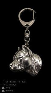 Amstaff silver covered keyring, high quality keychain Art Dog 2nd kind - <span itemprop='availableAtOrFrom'>Zary, Polska</span> - Amstaff silver covered keyring, high quality keychain Art Dog 2nd kind - Zary, Polska