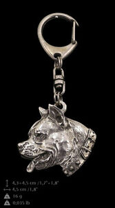 Amstaff silver covered keyring, high quality keychain Art Dog - <span itemprop='availableAtOrFrom'>Zary, Polska</span> - Amstaff silver covered keyring, high quality keychain Art Dog - Zary, Polska