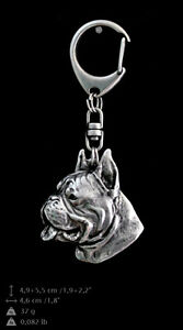 Boxer, cropped silver covered keyring, high quality keychain Art Dog - <span itemprop='availableAtOrFrom'>Zary, Polska</span> - Boxer, cropped silver covered keyring, high quality keychain Art Dog - Zary, Polska
