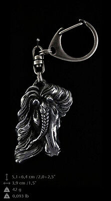 Fresian Horse, silver covered keyring, high qauality keyring Art Dog