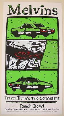 2004 Melvins - Omaha - Silkscreen Concert Poster by Todd Barricklow