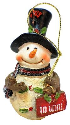 College Texas Tech University Red Raiders NCAA Licensed Snowman Christmas Orname