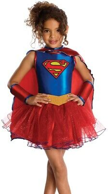 Supergirl Tutu Costume Dress Justice League Toddler Girls Super Girl  2-4, 4-6 (Costume Supergirl)