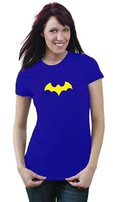 DC Comics Batgirl Symbol III Juniors Purple - Batgirl T Shirt