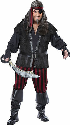e Costume Plus Size Men (48-52) New by Cal. Costumes 01739 (Rogue Pirate Kostüm)