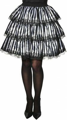 white black striped ruffle skirt Steampunk Pirate womens adult Halloween costume - Striped Skirt Halloween Costume