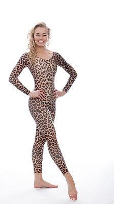 KDC017 Leopard Tier Katze Aufdruck Catwoman Kostüm Halloween Catsuit Von KATZ