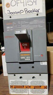 Generac 0F4154 300A 480vac 3P used breaker