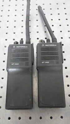 R168843 2 Motorola Mt2000 Handie-talkie Fm Handheld Radio H01kdd9aa4an