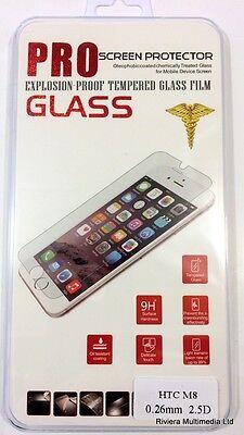 Genuine TEMPERED GLASS Film Invisible Screen Protector Guard For HTC One M8 Invisible Screen Protector Guard