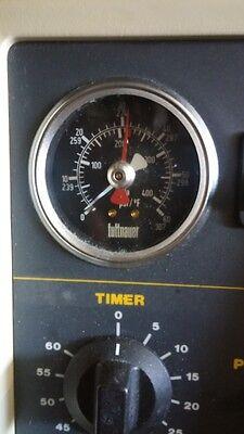 Used Tuttnauer Manual Autoclave Sterilizer Pressure Gauge 0 60 Psi 02300011