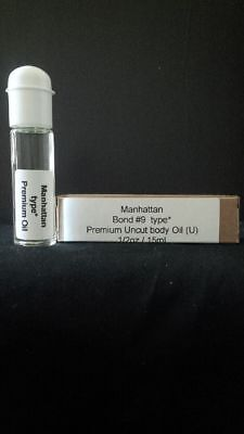 Manhattan Bond  #9 Type* (U) Fragrance Body Oil Flip top roll on (1/2oz)