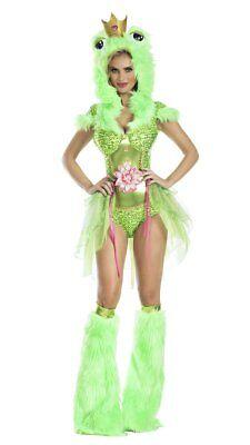 Party King Kiss Me Froschkönig Prinzessin Erwachsene Damen Halloween Kostüm