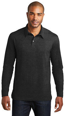 Port Authority Men's Long Sleeve Self Meridian Cotton Blend Polo Shirt. K577LS